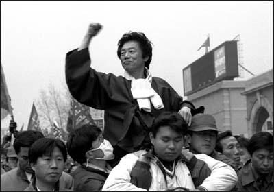 92년 대선에 민중후보로 출마한 백기완 선생. ⓒ 오마이뉴스 이종호.jpg